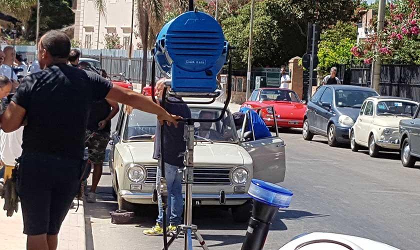 Sul ciak di Rocco Chinnici le auto di scena Partinicesi